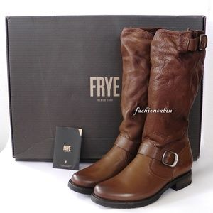 NEW Frye Veronica Slouch Vintaged Leather Boot